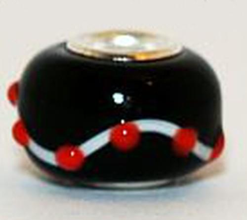 Wechselperle S1 ca. 15mm schwarz rot