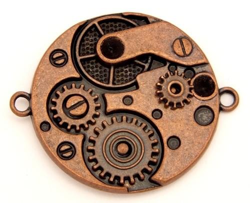Steampunk Uhrwerk U1 ca. 36 x 30mm kupferfarben