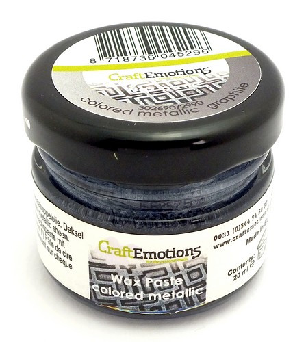 Craft Emotions Gilding Wax metallic graphite 20ml