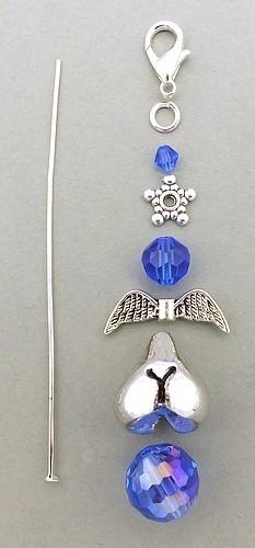 Bastelset Glamour Arschengel® blau 1Stk