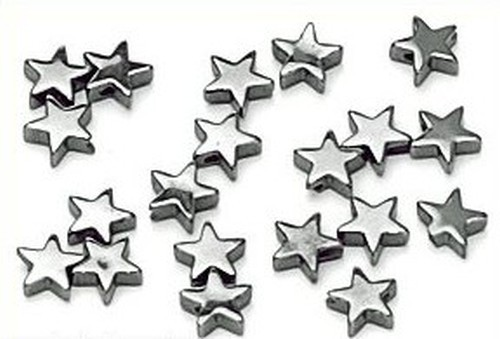 Hämatit Sterne ca. 6mm 20Stk