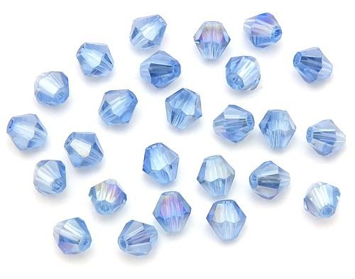 Bicone Glasschliffperlen ca. 6mm hellblau AB