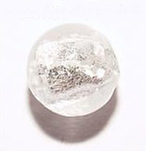 Silverfoil-Perlen, klar ( Nr. 02 ) 8mm 20Stk
