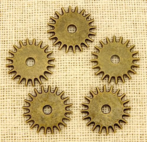 Steampunk Sun ca. 17 x1,5mm antikfarben 5Stk