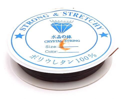 Stretchmagic / Elastikband ca. 0,6mm braun ca. 9m