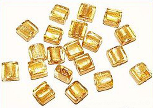 Goldfoil-Quadrate, crystal ( Nr. 29 ) 10x10x5 mm