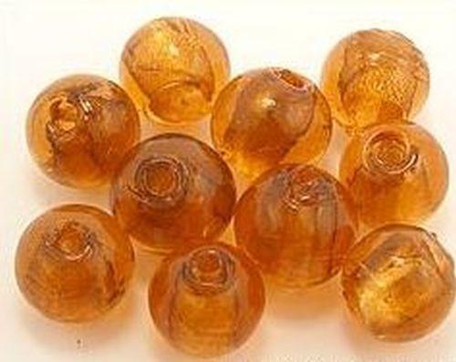 Silverfoil-Perlen braun ca. 12mm
