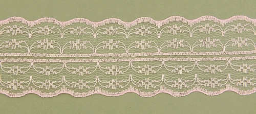 Tüllspitze Nostalgia ca. 5 cm breit rosa 50 cm lang