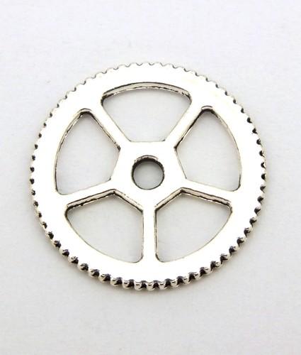 Steampunk Zahnrad Charles ca. 18x1mm silberfarben 1Stk