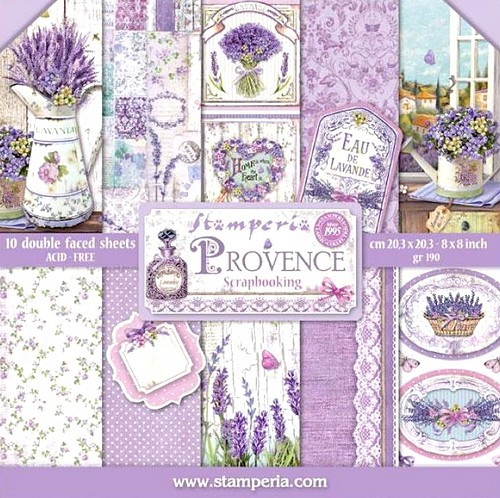 Stamperia Papierset Provence 20,3 x 20,3 cm