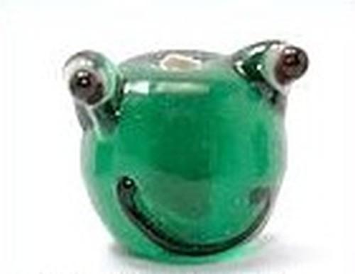 Froschkopf ca. 11 x 13mm grün