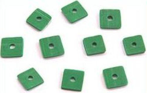 Papillon Würfelplättchen ca. 6 x 6mm gras-grün 10Stk