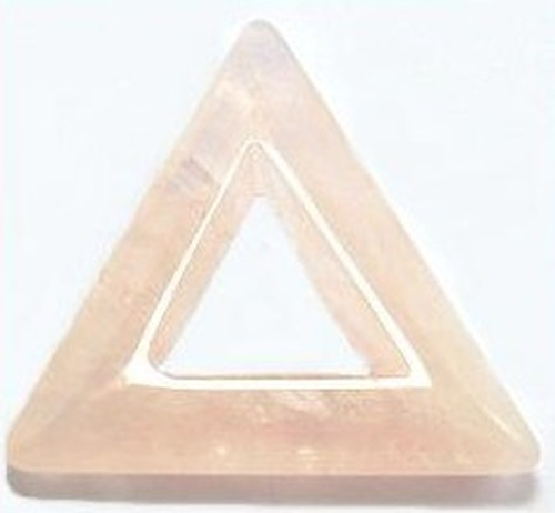 Anhänger Rosenquarz Dreieck ca. 35mm