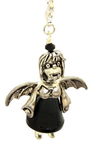 Anhänger Vampinchen Abby ca. 7cm schwarz 1Stk