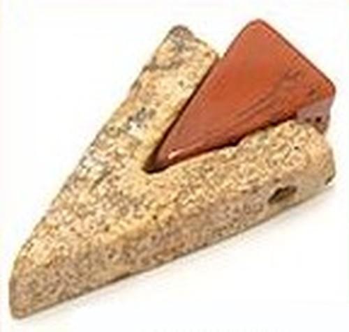 Anhänger Jaspispuzzle 2-teilig ca. 40 x 25mm 1Stk
