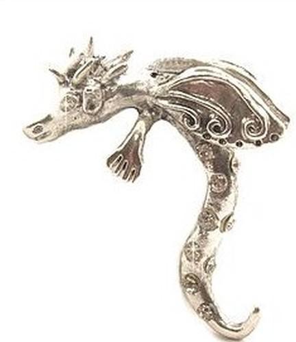 Drachendame Lady Godiva ca. 58 x 46mm für Perlen von ca. 18 - 22mm