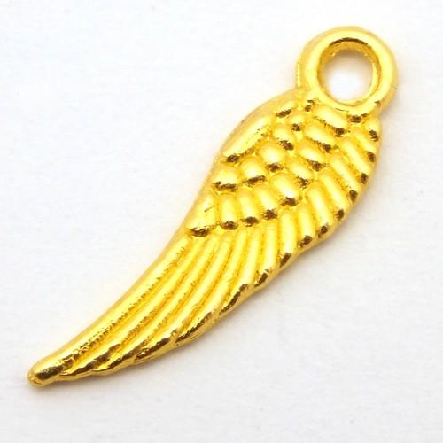 Engelflügel KLEIN ca. 5 x 17mm goldfarben