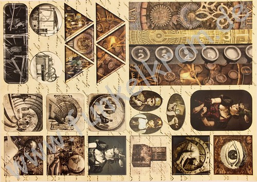 Cutout Sticker Bogen Steampunk DIN A4 1Stk