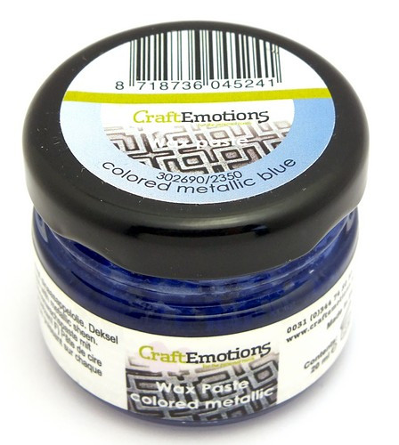 Craft Emotions Gilding Wax metallic blau 20ml 1Stk