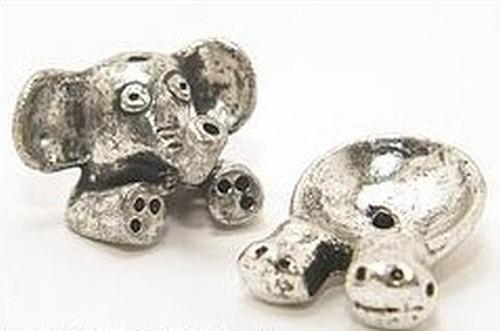 Funkelfant Otto für Perlen von ca. 12 - 14mm Größe