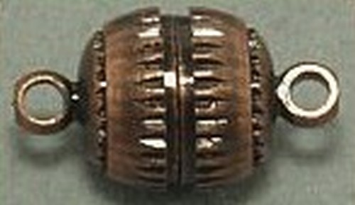 Magnetverschlüsse geriffelt groß ca.8mm kupferfarben