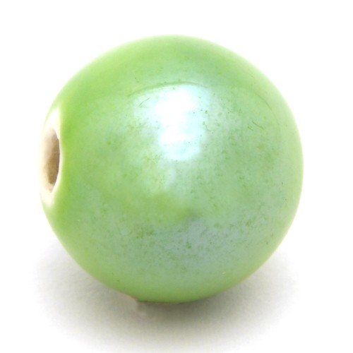 Keramikperle Karibu ca. 18mm apple