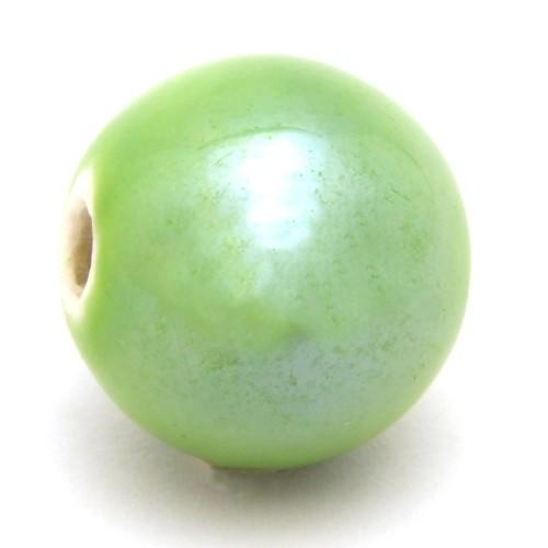 Keramikperle Karibu ca. 18mm apple 1Stk