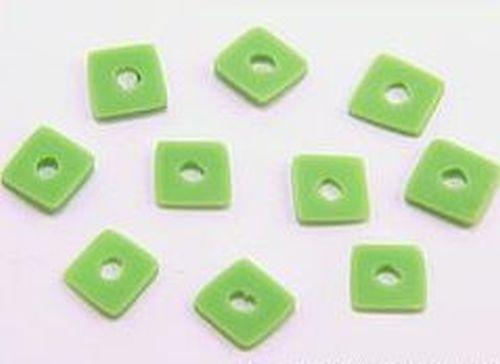 10 Papillon Würfelplättchen ca 6 x 6mm gras-grün