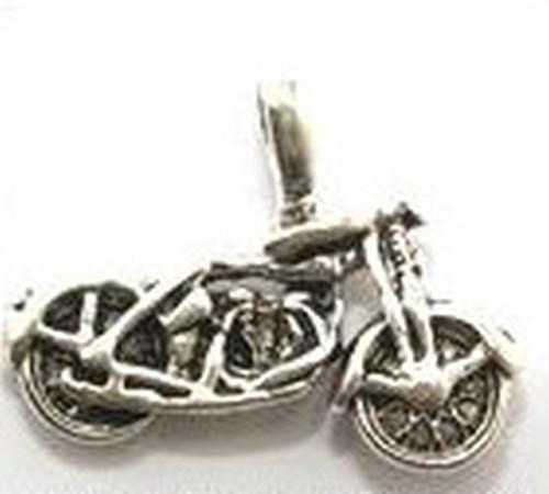 Metallanhänger Motorrad ca. 22 x 17mm silberfarben
