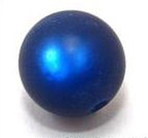 Polar-Perle MATT ca. 17mm #03 dunkelblau 1Stk