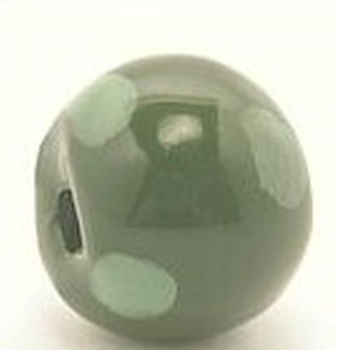 Keramikperle Kikubwa ca. 18mm moos