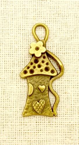 Steampunk Charm Häuschen ca. 43x20mm antikfarben 1Stk