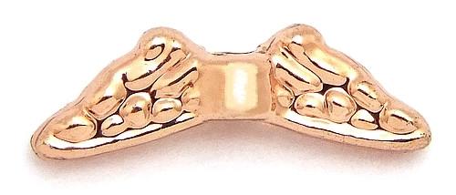 Miniflügel ca. 12 x 4mm rosegoldfarben 1Stk