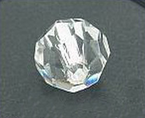 Großloch Glasschliffkugel ca. 14mm