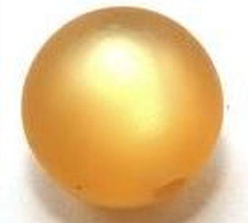 Polar-Perle MATT ca. 20mm #19 gold topaz 1Stk