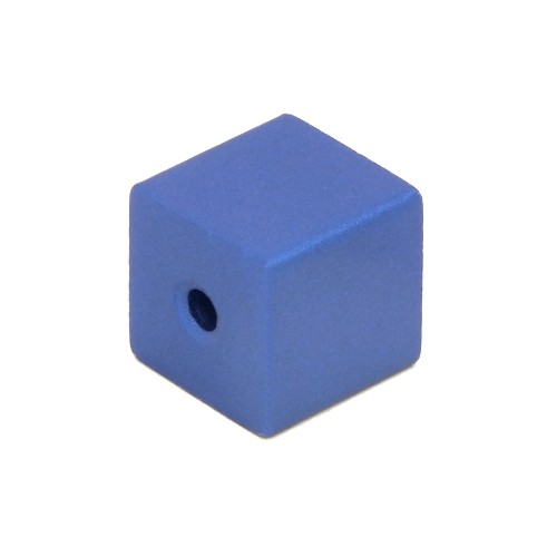 Loxalu® Beads Würfel ca. 8 x 8mm azurblau