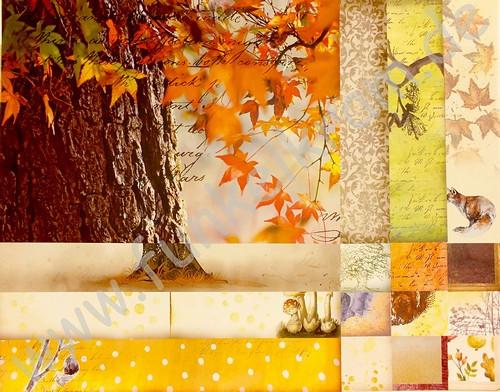 JunkJournal Papierset Herbst 1Stk