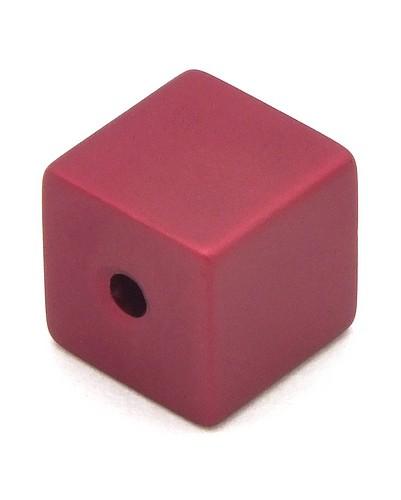 Loxalu® Beads Würfel ca. 8 x 8mm rot
