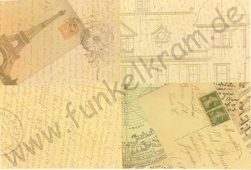 Cutout Sticker Bogen Schrift & Brief DIN A4 1Stk