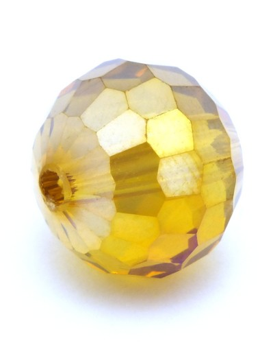 Glasschliffperle ca. 12mm topaz AB