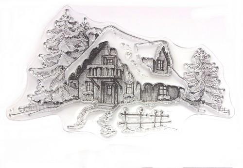 Stempel Schneehütte ca. 10 x 6 cm 1Stk