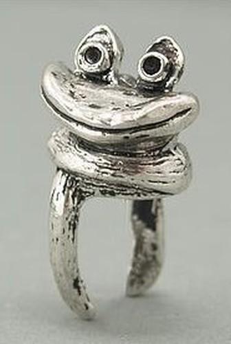 Funkelfrosch Fridolin ca. 29mm für Perlen von ca. 12mm Größe 1Stk