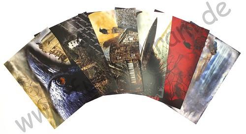 JunkJournal Postkarten Set Raben Gothic 1 - 12teilig