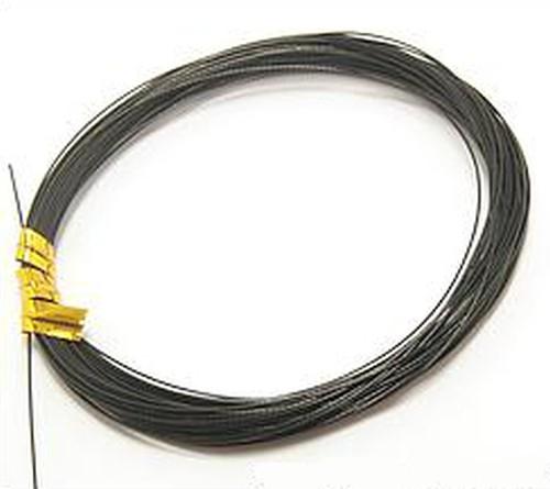 Schmuckdraht nylonummantelt 0,38mm Schwarz 10m