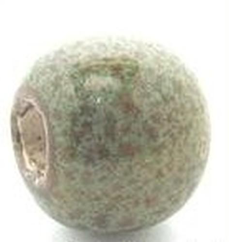 Keramikperle Pasipo ca. 18mm vogelei grün 1Stk