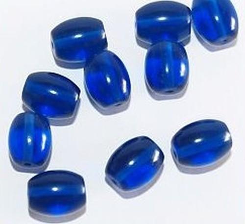 Glasperlen Oliven ca. 8 x 10mm Nr. 47 dunkelblau
