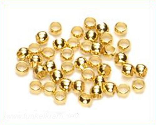 große Quetschperlen ca. 3mm goldfarben 100Stk