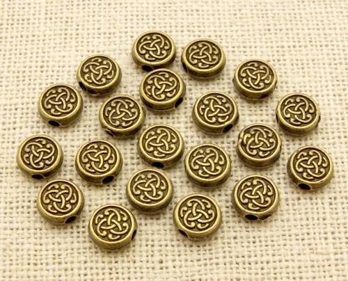 Steampunk Münzen Tribal ca. 7mm antikfarben