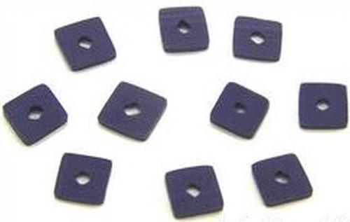 Papillon Würfelplättchen ca. 6 x 6mm pflaume 10Stk