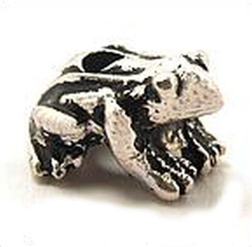 Metallperle Frosch ca. 14x10mm altsilberfarben